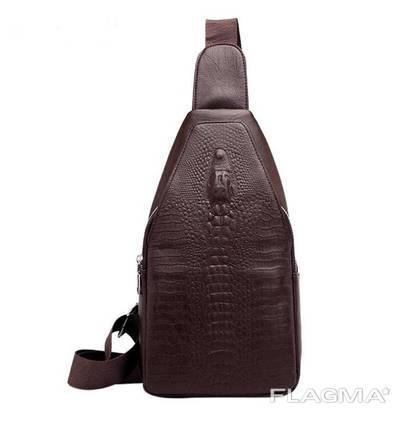 Кожаный слинго рюкзак Crocodile (Крокодил)