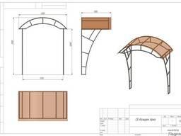 Козырек с боковинами арка, навес, поликарбонат