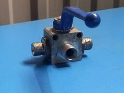 Кран шаровой гидравлический трёхходовой S22 (18*1,5) (RSAP 3V)