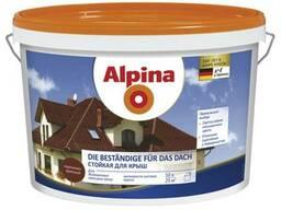 Краска Alpina Стойкая для крыш и цоколей, темно-коричневая