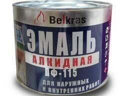 Краска эмаль ПФ-115 «Белкрас» от 2,6 руб. за 1 кг.