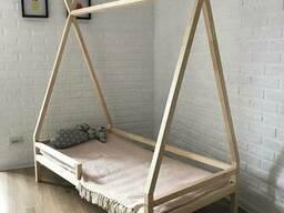 Кровать детская Вигвам из массива сосны на заказ.