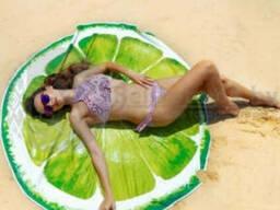 Круглое пляжное парео селфи коврик пляжная подстилка. ..