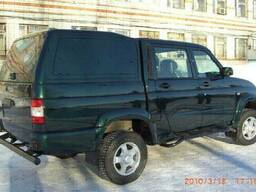 Крыша грузовой платформы (кунг) на УАЗ-2363 (черный. ..