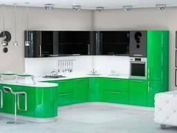 Кухни с фасадами - краска по краске