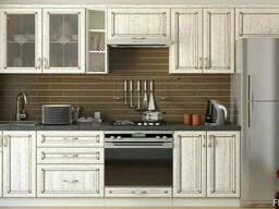 Кухни с фасадами - патина по шпону