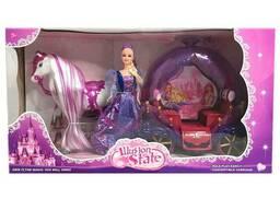Кукла с каретой и двигающейся лошадью (237A)