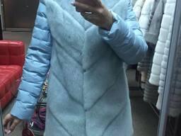 Куртка и жилет из кролика рекс.