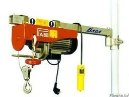 Лебедки электрические подвесные РА, г/п от 250 до 1000 кг.