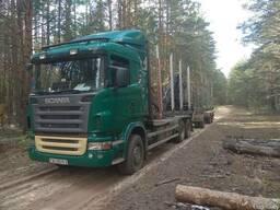 Перевозка леса, услуги по перевозке леса лесовозом