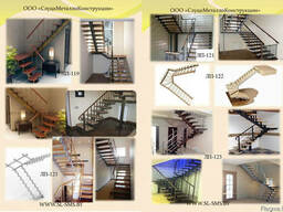 Лестница металлическая внутреняя - фото 5