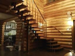 Лестница на второй этаж для дома, дачи, коттеджа