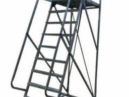 Лестница с платформой алюминиевая ЛП-106
