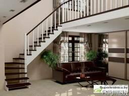 Готовые лестницы из сосны для дачи К-001м