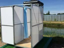 Летний душ Престиж (не сварной). Бак: 200 литров (с обогрево