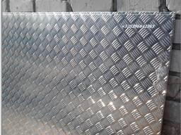 """Лист рифлённый, алюминиевый, рисунок """"квинтет"""", размер 1,5х1200х3000м, в наличие"""