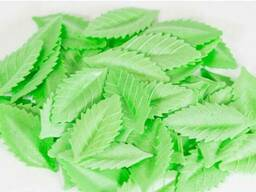 Лист РОЗЫ малый 38мм, зеленый, вафельный