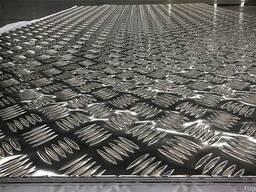Листы алюминиевый рифленый
