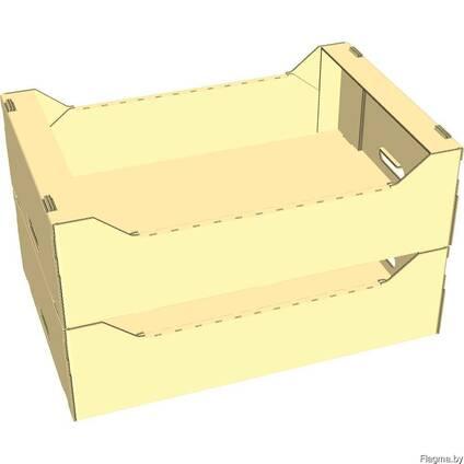 Ящик под яблоки (яблочный ящик, открытый лоток, шпилька)
