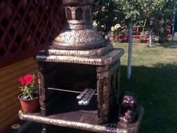 Мангал барбекю печь для дачи из бетона