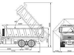 МАЗ 20т 16м3 - Доставка песка мытого, пгс, грунт плодородный, грунт для выравнивания участ