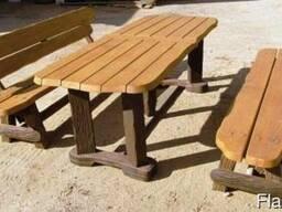 Мебель деревянная для дачи, сада, кафе
