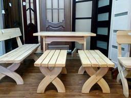 Мебель для бани из дерева. - фото 3