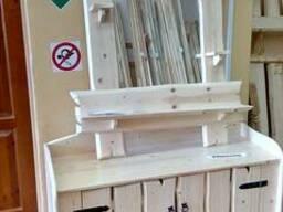 Мебель для бани из дерева.