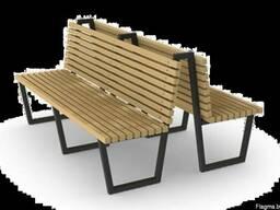 Металлические лавочки, скамейки, столы