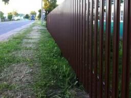 Металлический забор, евроштакетник, профлист