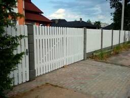 Модульный забор модульный фундамент