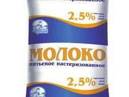 Молоко питьевое пастеризованное 2,5% жирности 1,0л