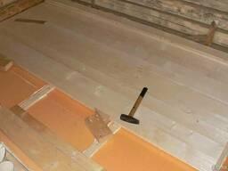 Монтаж деревянных полов с утеплением Воложин и район