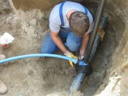Монтаж наружные сетей водоснабжения частного дома.