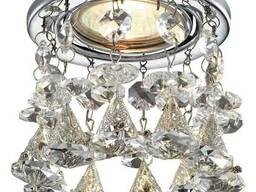 Монтаж точечного светильника в подвесной потолок , натяжной