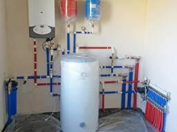 Мотнаж газовых твердотопливных котлов, водоснабжение