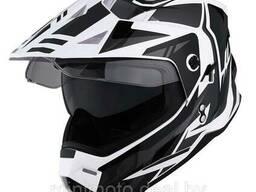Шлем для мотоцикла 1STORM HF802 с очками черный матовый L