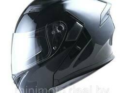 Шлем скутер 1STORM HB89 модуляр (с очками) белый M