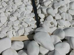 Мраморная галька белая ТАСОС, Греция 40-80 мм, 15 кг мешок