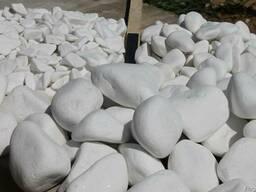 Мраморная галька белая ТАСОС, Греция 80-120 мм, 15 кг мешок