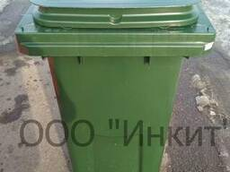 Мусорный контейнер на 120 литров зеленый