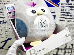 Мягкая музыкальная игрушка ночник Baby Toys 7 мелодий (3 в 1) Совенок (можно стирать)