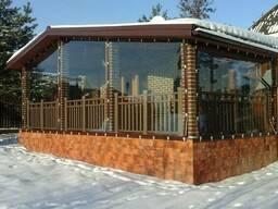 Мягкие окна (гибкие шторы) для беседок, веранд и террасс