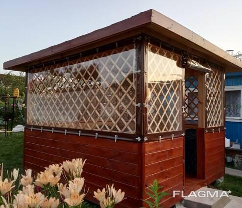 Мягкие окна из ПВХ плёнки для беседок, веранд и террас
