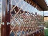 Мягкие окна из ПВХ плёнки для беседок, веранд и террас - фото 3