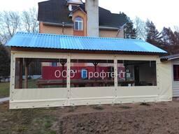 Мягкие окна (тентовые шторы) для укрытия и защиты беседки, веранды, террасы