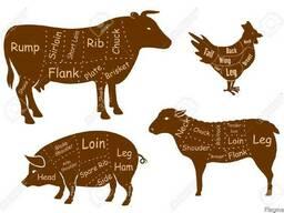 Мясо: говядина, свинина, курица