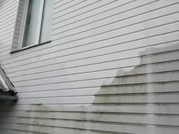 Мытье фасадов и окон, удаление высолов
