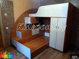 Набор детской мебели под заказ шкаф и двухъярусная кровать