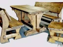 Набор Дубовой мебели «Семейный» (стол 2 скамьи стул)